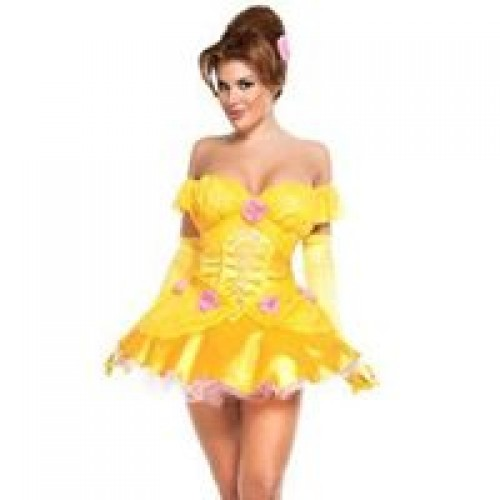 Fantasia Bela e Fera Vestido Amarelo