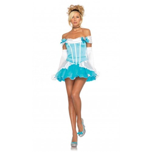 Fantasia Cinderela Vestido Azul