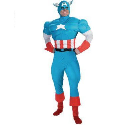Fantasia Masculina Capitão América inflável