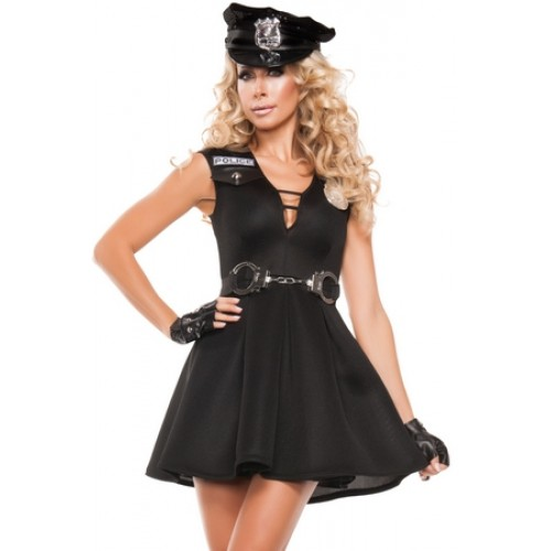 Fantasia Policial Femina Preta