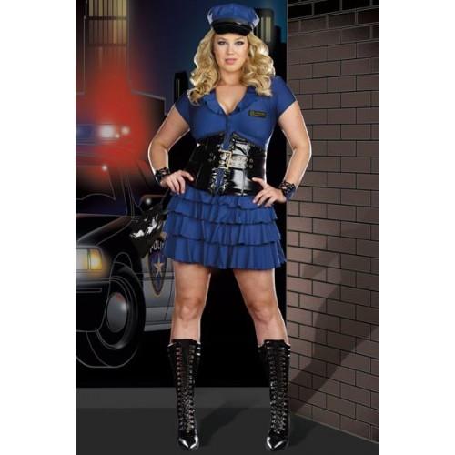 Fantasia Policial Feminina Azul