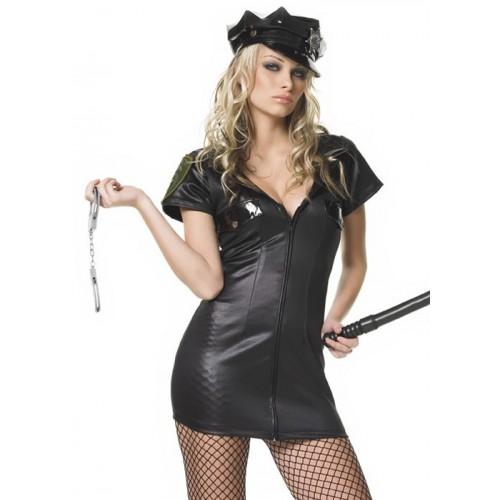 Fantasia Policial Feminina Preta
