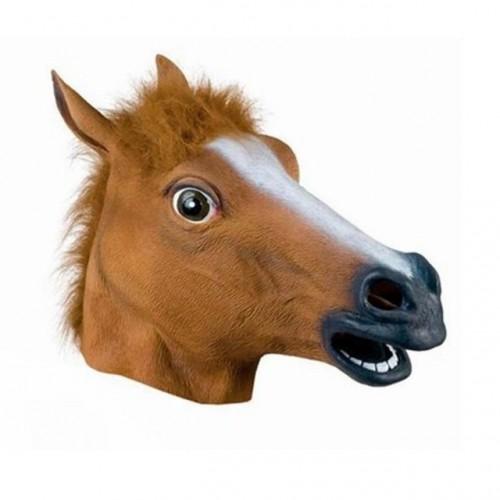 Máscara Cavalo Cor Marrom Latex