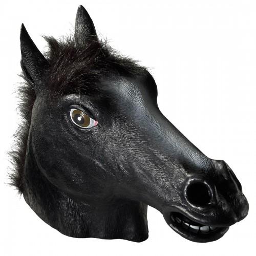 Máscara Cavalo Cor Preta Latex