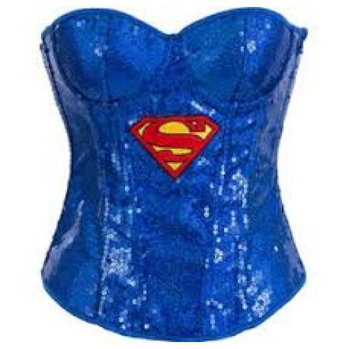 Corset Supergirl Azul com Logo