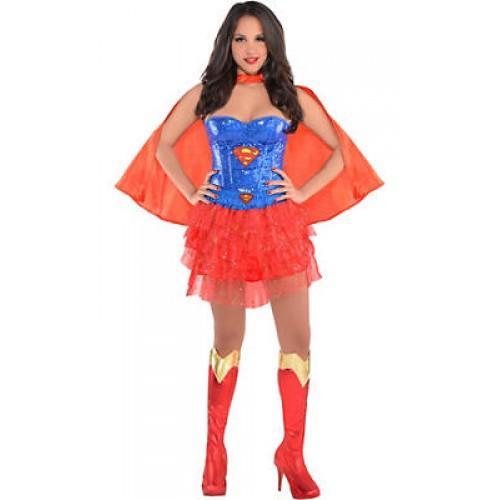 Corset Supergirl Vermelha com Capa