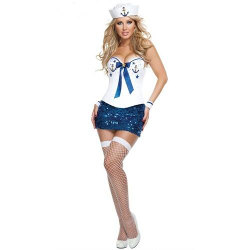 Marinheira com Saia Azul