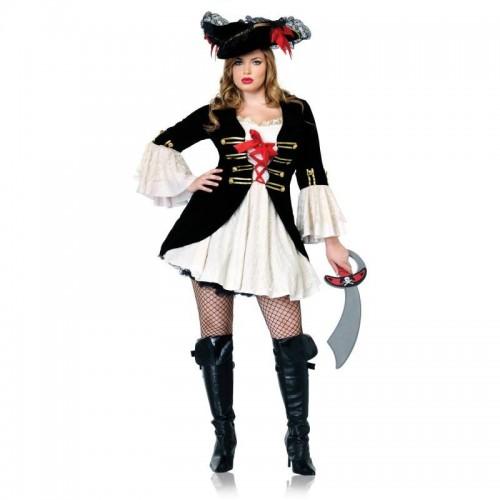 Pirata Vestido Preto e Branco