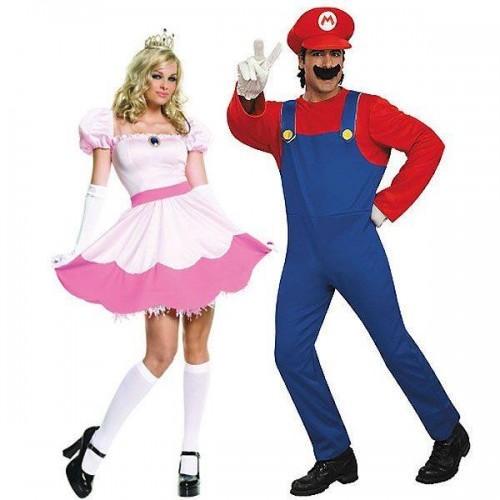 Princesa Peach e Mario Bros