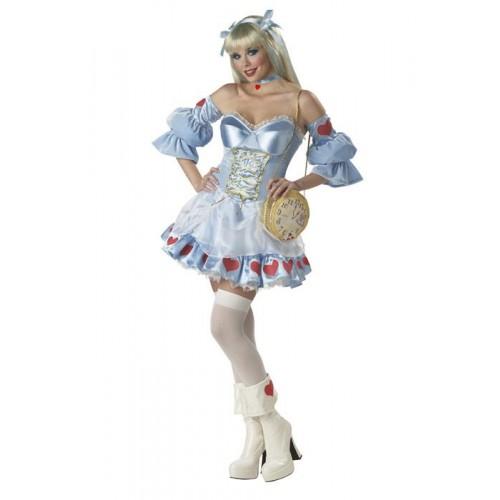 Vestido Alice nos País das Maravilhas Azul