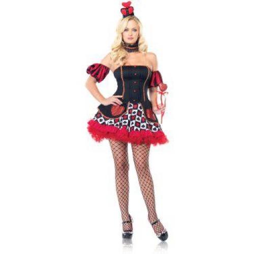 Vestido Dama de Copas Preto e Vermelho