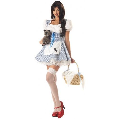 Vestido Dorothy Azul e Branco